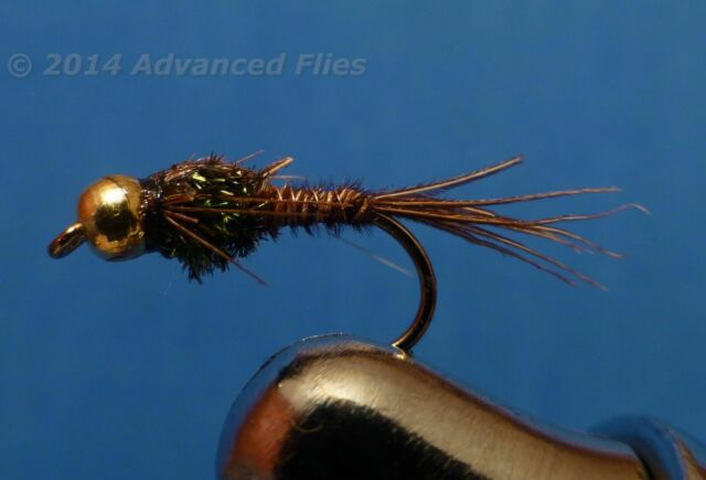NYMPHS DRY FLIES **AWESOME 1 DZ D-9 BEAD HEAD FLASHBACK PRINCE PHEASANT TAIL/'S