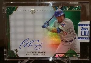 JAVIER-BAEZ-RC-AUTO-REFRACTOR-SEALED-2015-TOPPS-TRIBUTE-SP-99-CUBS-ROOKIE-ON