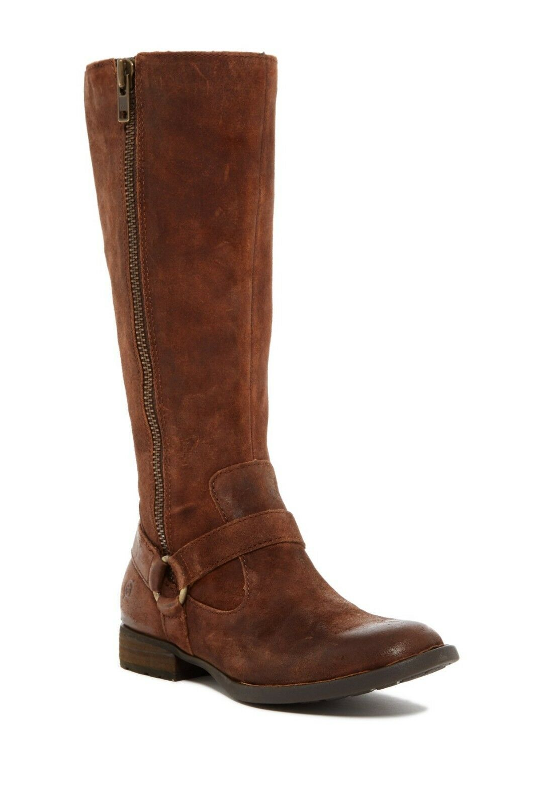 NEW Born Delall Suede Riding Boot, Tobacco Brown Suede, Women Size 6.5, 245