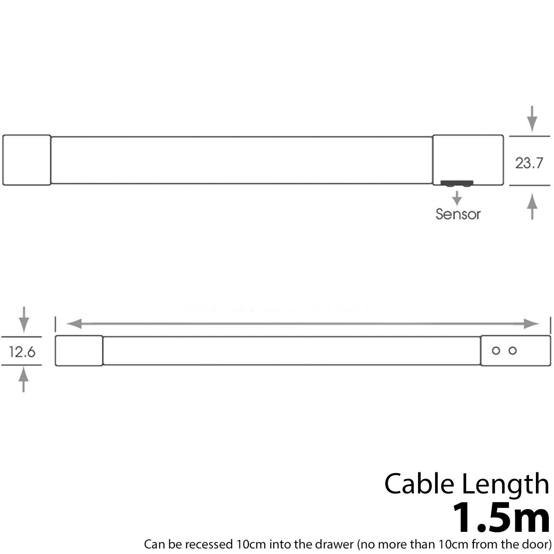 800mm LED Cajón TUBO LUZ – Auto Encendido/Apagado Cocina Sensor PIR – Cocina Encendido/Apagado e792cf