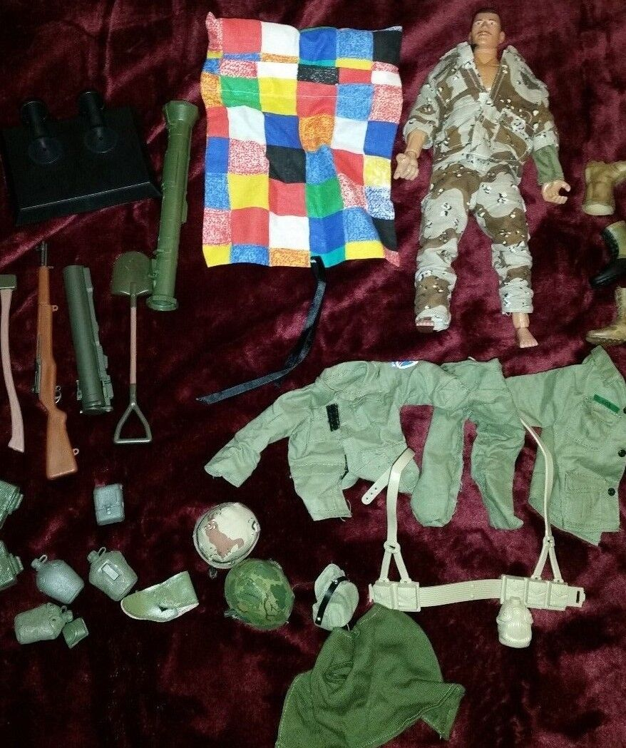 Formative Int'l  12  Action Figure US Army RARE Joe Camo  accessories