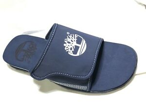 Details about Timberland Men's Fells Slide Sandals Slipper Flip Flops NAVY BLUE Style #6523A 7