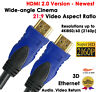 ULTRA 6 FT HDMI 2.0 Cable with Ethernet 24K Gold Plated, Full 4K x 2K