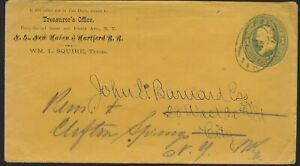 1870's Cover New Haven & Hartford RR to Former Civil War General John G Barnard