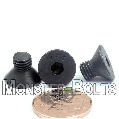 """PT 1//4/""""-28 x 3/"""" Fine Thread Socket Flat Hd Cap Screw Black Oxide"""