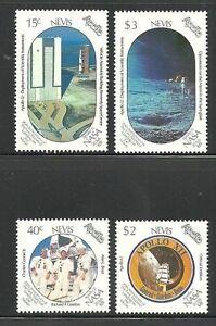 Album-Treasures-Nevis-Scott-586-589-Apollo-12-Moon-Landing-Mint-NH
