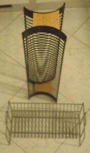 Porta Cd Dvd Metallo.Scaffale 2 Bacheca Porta Cd Dvd Colonna E Da Muro In Metallo Ebay