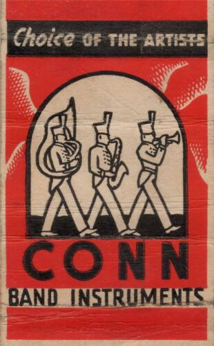 Old Print CONN BAND INSTRUMENTS ad