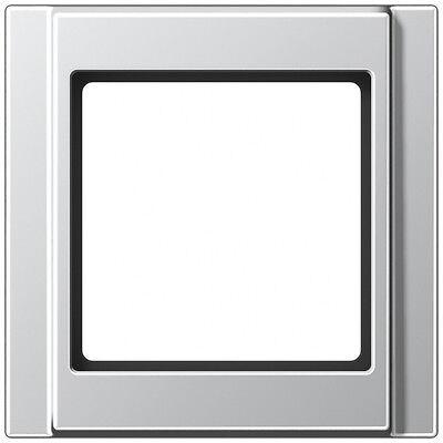 Jung A500 aluminium, RAHMEN 1-FACH A581AL  81x81x10mm
