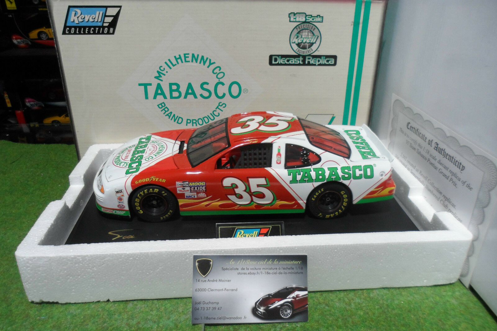 PONTIAC GRAND PRIX  35 NASCAR 1997 TEAM TABASCO RACING 1 18 REVELL 4233 voiture