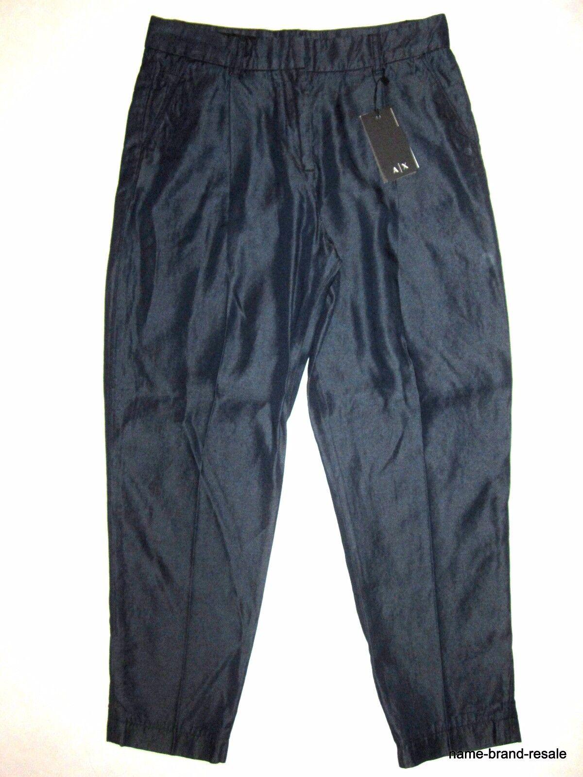 ARMANI EXCHANGE  130 NWT 100% Tencel JEANS Womens 6 Dark Denim Trouser Pants NEW