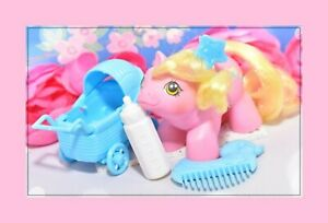 My-Little-Pony-MLP-G1-Vtg-1987-Newborn-Baby-Tappy-amp-Original-Comb-Bottle