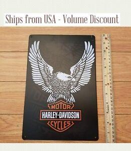Harley-Sign-Metal-Harley-Davidson-Sign-Eagle-Harley-Motorcycle-Sign-Harley-Tin
