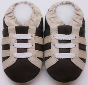 slippers leather baby shoes minishoezoo boots brown 5-6 years US 13-1 free ship