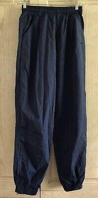 Nike Track Pants M 100% Nylon Navy Elastic Waist 11