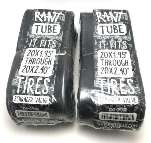 "2 x RANT 20/"" BMX BIKE BICYCLE TUBES 20 x 1.95 2.0 2.1 2.25 2.3 2.35 2.4 SHADOW"