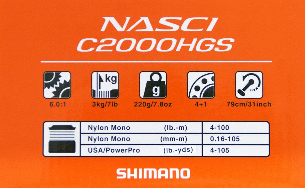 Shimano 16 Nasci C2000HGS Spinning Spinning C2000HGS Reel 4969363035691 f05ee4