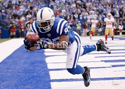 Reggie Wayne Diving TD Catch in Endzone 8x10 Color Photo Indianapolis Colts