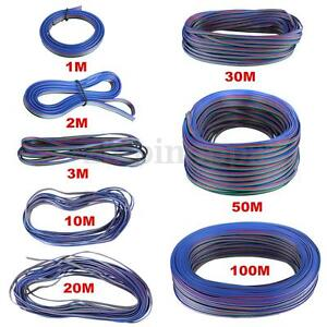 4-PIN-RGB-Extension-Connector-Wire-Cable-Cord-For-3528-5050-RGB-LED-Strip-Light