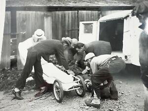 Details about Vintage Crime Scene Photo PuttingThe Body on a Gurney 1940's  B&W 8 x 10