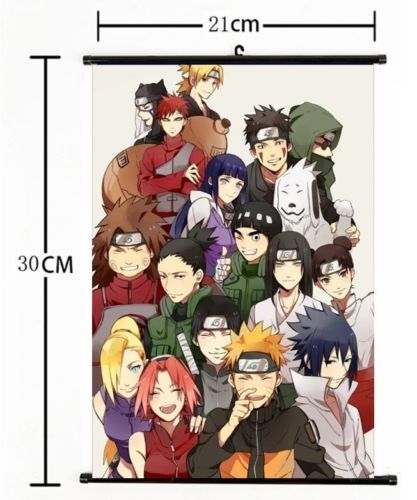 Japan Anime NARUTO Wall Poster Scroll Home Decor cosplay s768
