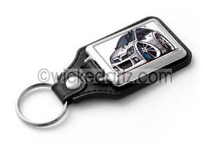 Free Post Richbrook Black Leather Vauxhall Logo Keyring Keyfob Genuine