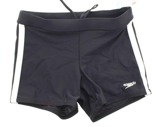 f51cec10fd Speedo 7300164 Shoreline Square Leg Fitness Swim Trunk S Black for ...