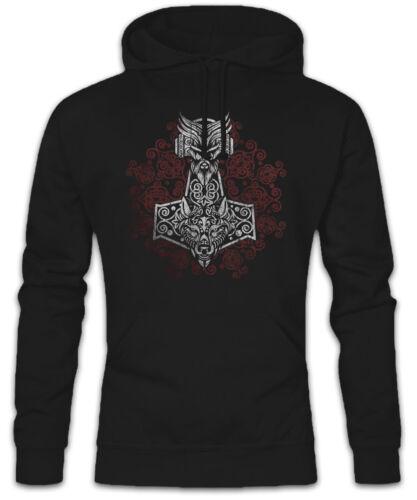 Thors Hammer Ornaments Hoodie Sweatshirt Odhins Horse Valhalla Viking Vikings