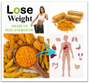 Details about Turmeric Pills 720mg Lot 100% Organic Curcumin Tumeric  Natural Weight Loss