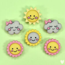 8pc 20mm Real Shell Sunshine Rays Effect Coat Baby Cardigan Kids Button 3008