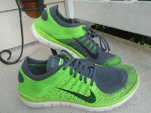 Para Hombre Nike Free Flyknit 4.0 Verde/Gris Calzado para ...