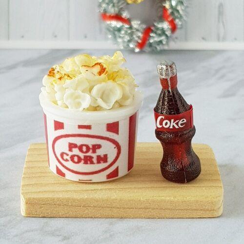 Bucket Popcorn Coke Dollhouse Miniatures Food Supply Barbie Blythe Party Deco