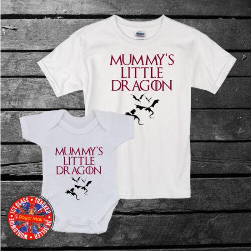 Juego De Tronos inspirado Mummy/'s Little Dragon T-Shirt Niños Bebé Crecen Chaleco