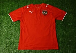 size 40 d4c48 212ef AUSTRIA NATIONAL TEAM 2008/2009 FOOTBALL SHIRT JERSEY HOME ...