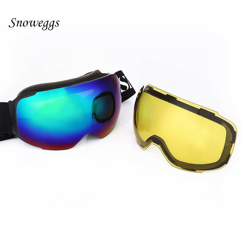 Ski Goggles Adult Mens Womens UV400 Anti-fog Magnetic Dual Lens Ski Snowboard
