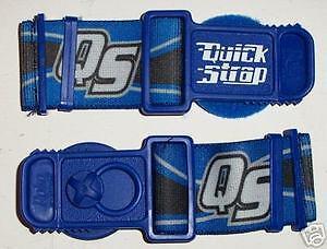 GOGGLE QUICK RELEASE STRAPS STRAP HELMET BLUE MOTOCROSS ENDURO 100% 100 PERCENT