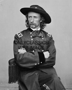1865-BREVET-MAJOR-GENERAL-GEORGE-ARMSTRONG-CUSTER-UNIFORM-8X10-PHOTO-CIVIL-WAR