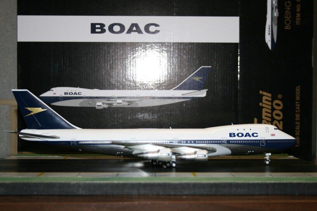 Gemini Jets 1 200 BOAC Boeing 747-100 G-AWNF (G2BOA654) Die-Cast Model Plane