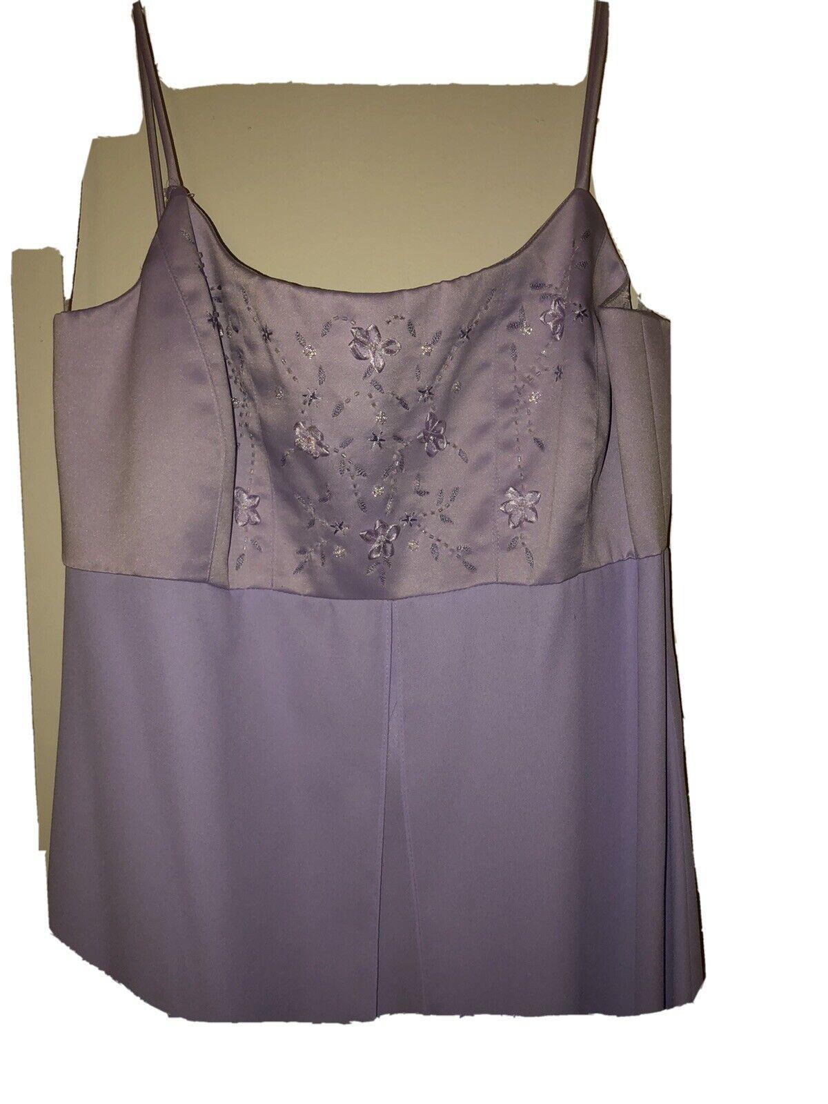 VINTAGE MICHAELANGELO Lavender Evening Prom Wedding Formal Gown / Dress Size 8