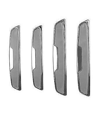 4 X Grey/chrome Door Boot Guard Protectors Insert (dg7g) Fits Volkswagen Vw Tuur 100% Garantie