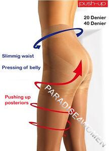 """/""""Push-Up/"""" Tights 20//40 Den,Shape Hips,Uplift Bottom,Pressing of Belly,ITALIAN"""