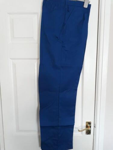 """Pantaloni da uomo alsico Lavoro Royal blu circa 41/"""" REG Mezza Elastico in vita."""