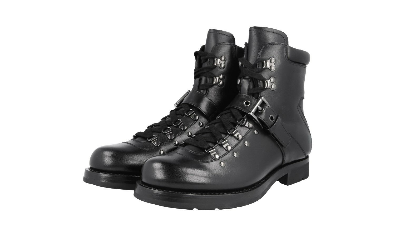 Auténtico De Lujo PRADA Half-bota zapatos 2T1882 negro nuevo nos 7.5