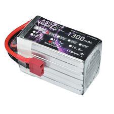 HRB Lipo 6S 1300mAh 22.2v 25-50C Battery TREX 450 HK450 RC Bateria AKKU KT Plate