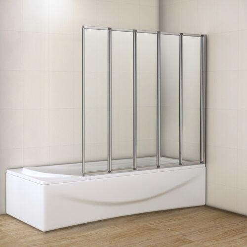 AICA 4 / 5 Fold Over Bath Folding Shower Screen 4mm Glass Reversible Door  Panel 1200mm 5 Fold | EBay