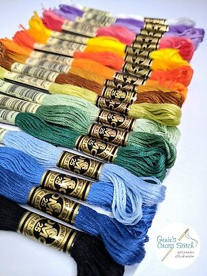 DMC 447 basic solid color embroidery thread set complete ...