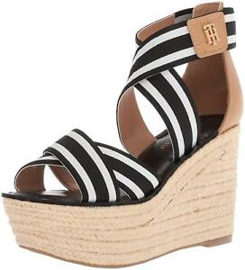 10f2a3c34 Image is loading Tommy-Hilfiger-Womens-Theia-Espadrille-Wedge-Sandal -Regular-