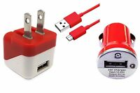 3 in1 Micro USB Home Wall Travel+ Car Charger+ Cable For Samsung LG Motorola HTC