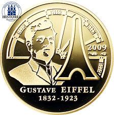 Frankreich 50 Euro Goldmünze 2009 PP Gustave Eiffel & Der Eiffelturm in Paris