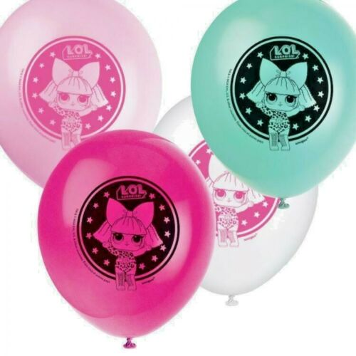 Helium or Air Various amounts  GIRLS BIRTHDAY PARTY LOL SURPRISE BALLOONS